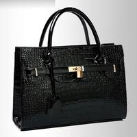 2015 Casual new arrive Light wave packet crocodile pattern fashion handbag Messenger bag for female