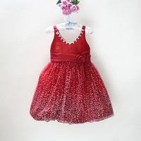so beautiful little girl diamonds flower lace tutu party dress children ball gown sleeveless dress