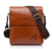 Messenger Bag Men PU Leather Black Brown Shoulder Bag men Fashion Business Briefcase Designer Tote Male Bags 6601-1