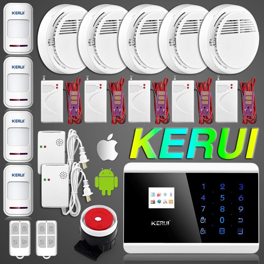 Датчики, Сигнализации KERUI ( ) IOS APP GSM KR8218G датчики