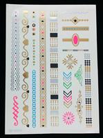 Wholesale tattoo supplies, cheap bracelet tattoo, cool wing tattoo design , mixed designs 12pcs a lot  free shipping