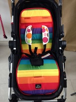 Rainbow Stroller Mat Waterproof Baby Stroller Pad Child Carriage Car Umbrella Cart Seat Cushion BB Car Thermal Thicken Pad