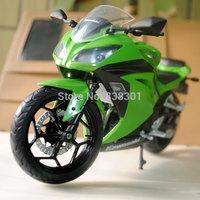Free Shipping 1/12 Diecast Motorcycle Model Toys Kawasaki Ninja Green Metal Motorbike Model Toy For Gift/Kids/Children