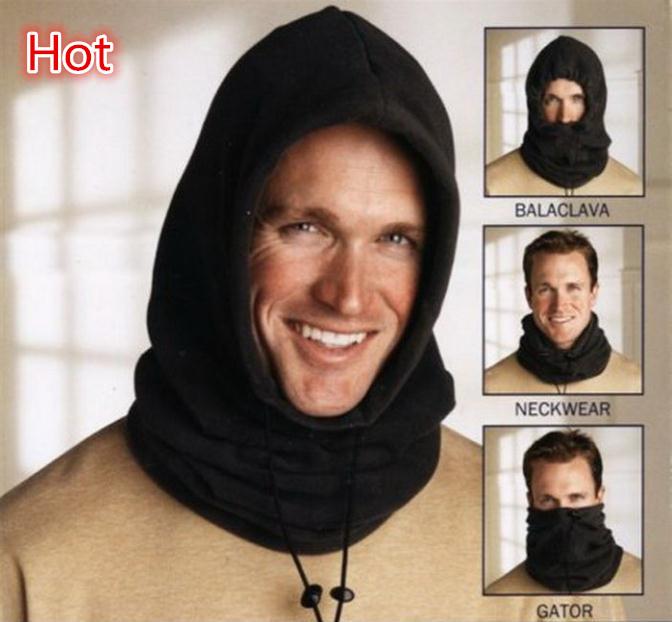 Outdoor Tactical Winter Thermal Face Mask Fleece Hat Balaclava Neckwear Multifunction 4 in 1 Hood Collar Motorcycle Ride Gator(China (Mainland))