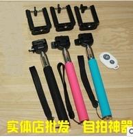 sale 50set/LOT 50Monopod+50Clip Holder+50Bluetooth Camera Shutter Self-timer wireless Remote Control Handheld