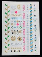 Wholesale sticker tattoo, fluorescent tattoo stickers, self adhesive tattoo designs, mixed designs 12pcs a lot  free shipping