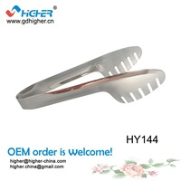 "(10"") Cheap Wholesale clip Stainless Steel Food Tong, Serving Tong,Kitchen Tongs Bar and kitchen tools clamps HY144"