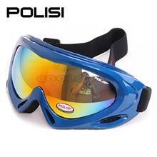 2015 POLISI  P-301-BL Children Ski Outdoor Motorcycle Eyewear goggles snowboard  Glasses Snowboard Skate Sled Goggles Glasses(China (Mainland))