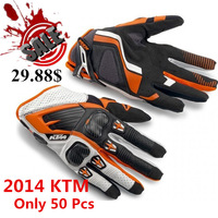 2014 KTM RACE COMP GLOVES 14 Motorcycle Cross Rally Goves Enduro Motocross Leather MX  Off Road ATV Rcing Gloves