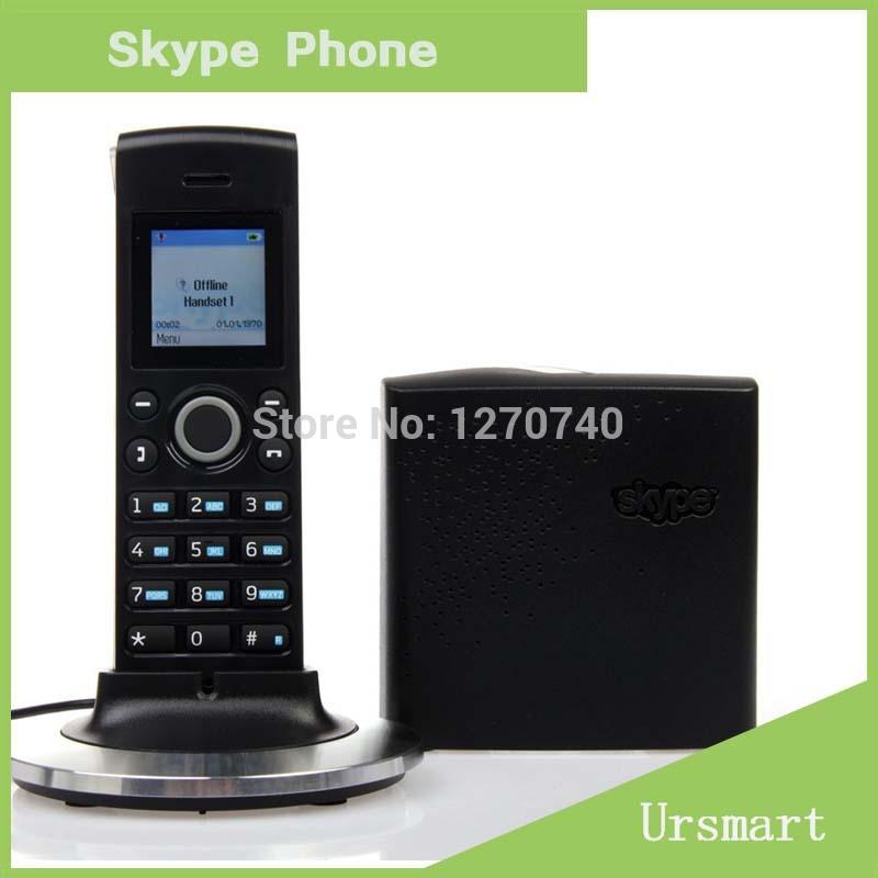 VOIP Phone Black Dualphone for Skype & using Cordless wireless SKYPE phone(China (Mainland))