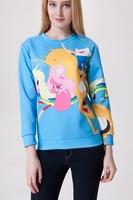 Yomsong 2014 New European Explosion Models  Digital Printing Cartoon Images Sweater Wholesale
