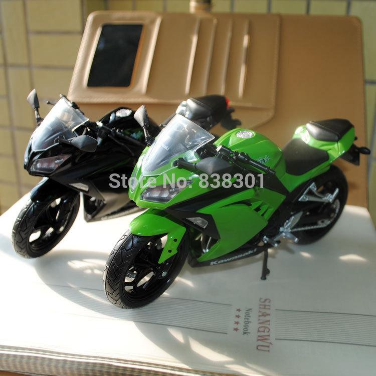Free Shipping 2pcs/set 1/12 Scale Motorbike Model Toys Kawasaki Ninja Diecast Metal Motorcycle Toy For Children/Gift/Kids(China (Mainland))