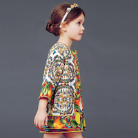 2014 news Girls clothing Flower dress, jacket two piece kids suit children suit baby clothing winter coat
