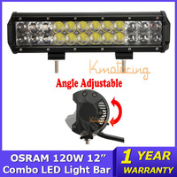 12 inch OSRAM LED light bar 120W AWD Pickup Camper led Work Light beam Combo 4WD Truck 4x4 SUV Car DC 9~32V Off Road Cab Light