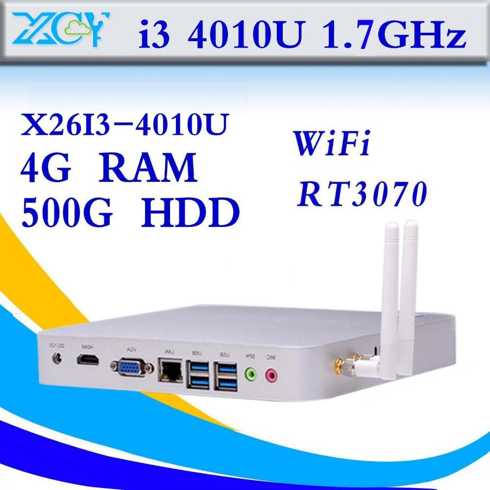 intel i3 4010u 4g ram 4K HD Video support Linux OS Ubuntu industrial mini pc latest mini computer station mini pc thin client(China (Mainland))