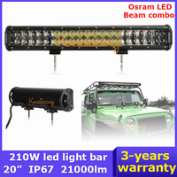 20 inch 210W led Light Bar Car OSRAM LED Work Off Road Light 4x4 Wagon AWD SUV Truck beam Combo 4WD Pickup SUV DC 9~32V Camper