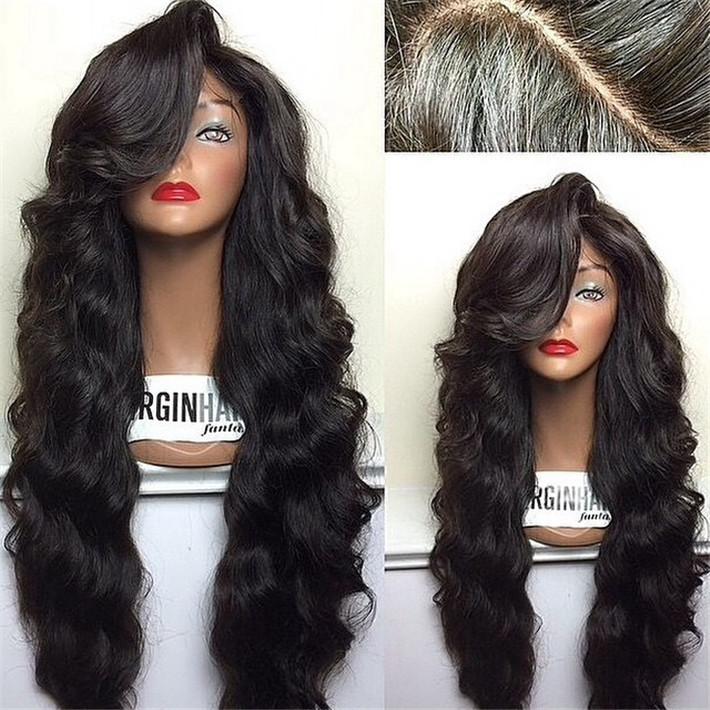 300 density 100% brazilian glueless full lace wigs full lace front wig with full bangs brazilian full lace wigs bleach knots(China (Mainland))