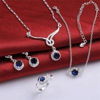 Free shipping! Popular fancy crystal jewelry set, Trendy party fancy jewelry sets for women