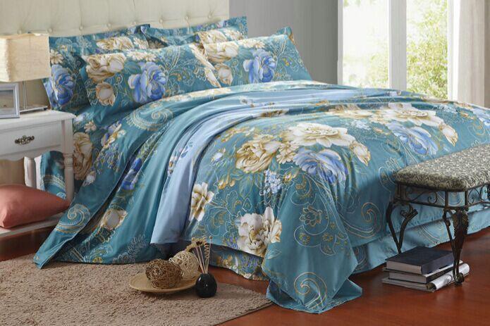 Cama de casamento de luxo povo chinês impressão adulto cama set sexy cinza 120 cm colcha cobre cama(China (Mainland))