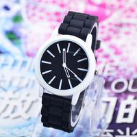 Fashion Classic Geneva Silicone Quartz Watch Jelly women Rhinestone Dress watches Free shipping