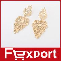 Alloy Golden Long Bohemian Pierced Earrings Hot 1 pair Women  472