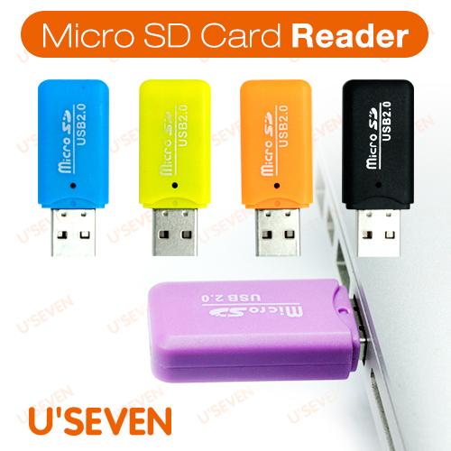 Free Shipping Phone Memory Card Micro SD Card Reader Adaptor USB 2.0 Cheap Price!!(China (Mainland))