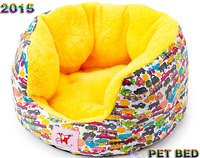 2015 new fashion pet bed Doghouse dog kennel/bed/sofa/house/cat litter SIZE M outside diameter: 48cm/height: 22cm
