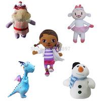 Girls 2015 Doc McStuffins Doctor Friend Girls & Dragon & Sheep & Hippo 30cm Big Size Plush Toys Stuffed Dolls Brinquedos Gift