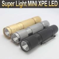 10PCS/LOT Super Light MINI LED 3 Color 1-mode LED AA Battery Flashlight Torch Lamp Light ( Black/Silver/Gold )