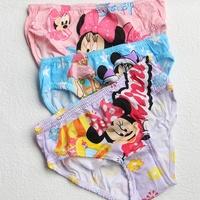 Cotton cartoon girls underwear briefs Minnie cueca infantil High Quality 3 in 1 retail packaging Knickers