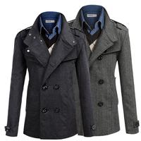 Hot! 2014 new brand men and straight men loose woolen coat jacket men fashion men's winter coat jacket  PF69