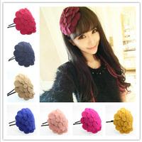 Fashiion Lady's hairbands women hair clasp handwear children girl  hairpin Big flower hat hair hoop