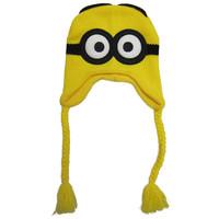 100% Original Despicable Me 2 DAVE Minion Beanie Knit Hat ski Cap Laplander