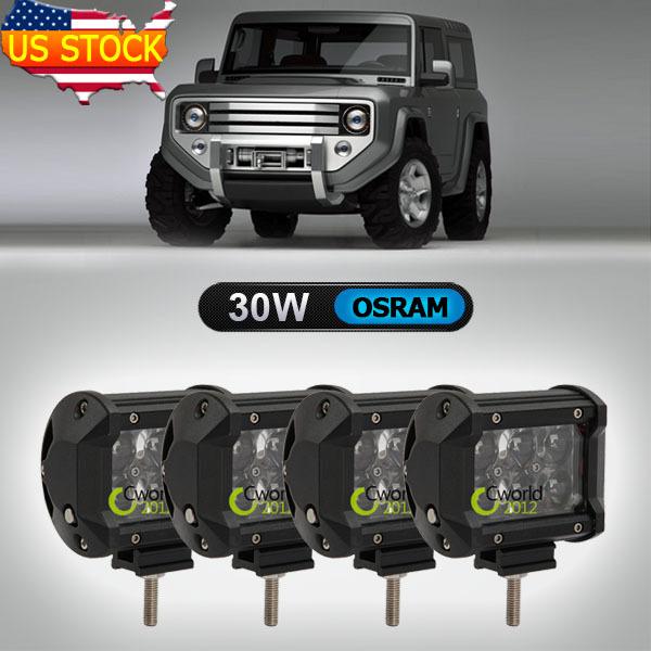Система освещения OEM OSRAM 4' 30W Auto 4WD 4 x 4 ATV UTV RV Offroad система освещения brand new 120w osram offroad 12 atv 4wd utv
