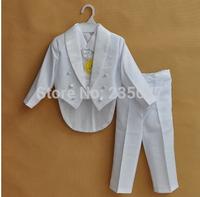 Retails(1-12Y) boy children tuxedo sets formal suits Wedding Formal Party Recital Easter 5-pcs set flower boy 5 pieces set