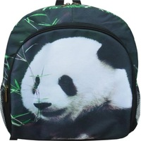 Hot design 3d style pattern Panda/Cat/Koalas/Tiger Face leisure Backpack for unisex Travel Bags Panda zipper  Animals Backpack