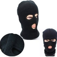 Winter Warm Knitting Hat Ski Mask Winter Hats Woman Mens Beanie Hat Motorcycle Face Mask Balaclava Outdoor Sports CS 3 Holes Hat