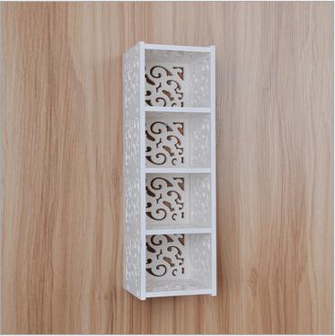 Large IKEA Style Floating Wall Shelves 4 Cube Shabby Vintage White Wood Cottage(China (Mainland))