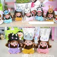 free shipping,50pcs/lot,new arrived ,Monchhichi doll , 7cm Chic-a-boo KiKi toys  style send randomly