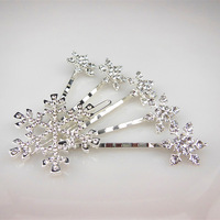 Free shipping  6pcs  princess snow hairpin bride wedding hair accessories EE117