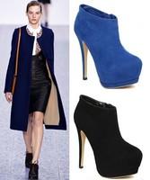 women high heels Boots female high-heeled shoes sexy platform thin heels boots ultra high heel fashion Martin ankle boots