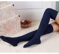 Fashion girls knee-socks 2014 Sexy Women Girls Cotton Socks Knee Thigh High Socks for Lady Boots