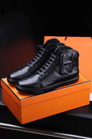 Famous Luxury Brand high quality Men's Ankle Boots Autumn Winter Men Fashion H Brand Casual High Top Shoes Keep Warm 38-44
