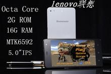 Original Lenovo phone smart wake 5 inch HD MTK6592 Octa Core 2GB RAM 16GB 13.0MP Camera Gorilla Glass cover smart mobile phone