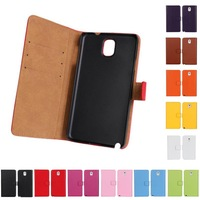 New Arrival Genuine Leather Case for Samsung Galaxy Note 3 N9000 Wallet Case With Credit Card Slots &Stand Fuction Free ship