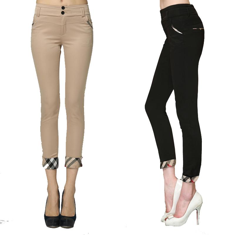 New Arrival Spring Women Pants Prorsum 2015 Casual Legging Black Khaki Women's Pants Fashion Cotton Women Trousers 9015 Hot Sale(China (Mainland))