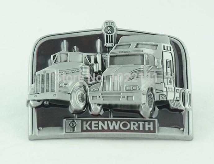 Hot Mens Classic Two Kenworth Trucks Awesome Cool Elegant Boys Metal Belt Buckle(China (Mainland))
