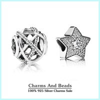 Authentic 925 sterling silver christmas galaxy stars charm sets sparkling jewelry sets fit famous brand charm bracelets diy NS54