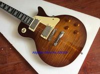 Cheap sandard guitar brown tiger pickup electric guitars Burst China free shipping