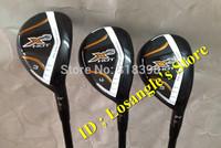 2014 New Golf X2 HOT Hybrid < 19 Or 22 Or 25 > Degree  With Original Graphite Regular Flex Shafts Golf Hybrid Wood Set Clubs 2PC